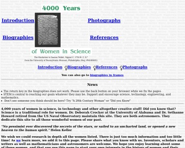 4000 Years of Women in Science