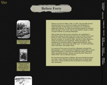 Edison after forty: before forty