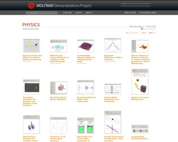 Physics - Wolfram Demonstrations Project