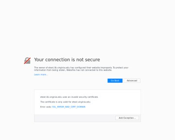 The University of Virginia Electronic Text Library