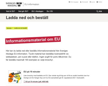 Faktablad om EU