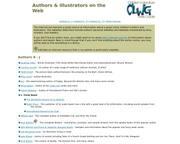 Authors & Illustrators on the Web