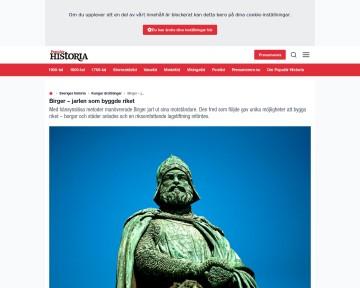 Birger jarl, jarlen som byggde riket - Populär historia
