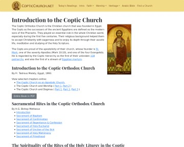 Coptic Orthodox Church Network