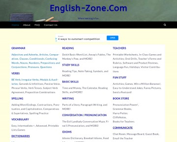 English-Zone.com: Verb Zone