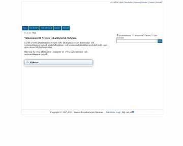 Svensk Lokalhistorisk Databas