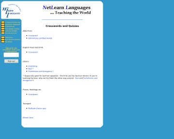 Net Learn Languages - Crosswords & Quizzes