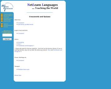 Net Learn Languages - Crosswords & Quizzes