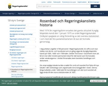 Rosenbad och regeringskansliets historia