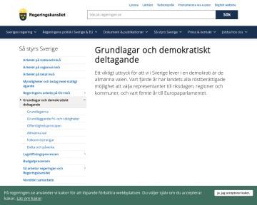 Det demokratiska systemet i Sverige