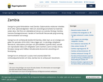 Zambia - Regeringskansliet