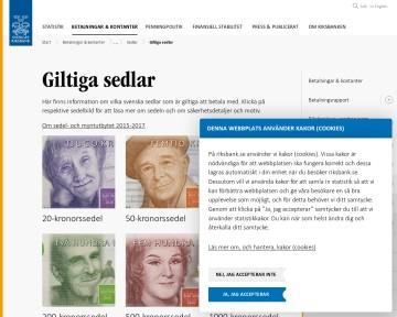 Giltiga sedlar - Sveriges Riksbank