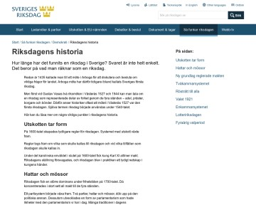Riksdagens historia