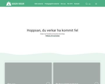 Faktasidor - Skogen i skolan