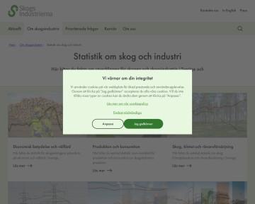 Statistik om skog och industri