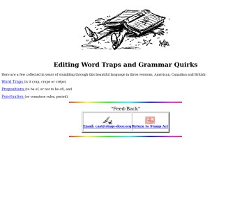 Editing Word Traps and Grammar Quirks