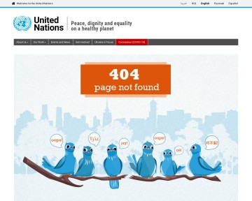 Structure and organization of United Nations Websites