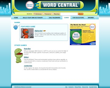 Games - Word Central