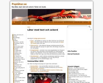 Poplåtar.se - Låtar med text och ackord för gitarr