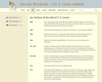 Into the Wardrobe: The C.S. Lewis Web Site