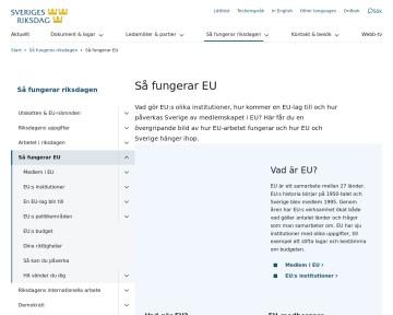 EU-upplysningen - Sveriges riksdag