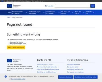 Presentationsbilder om EU