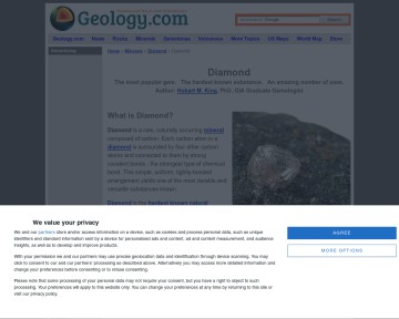 Diamond: A gem mineral with properties for industrial use