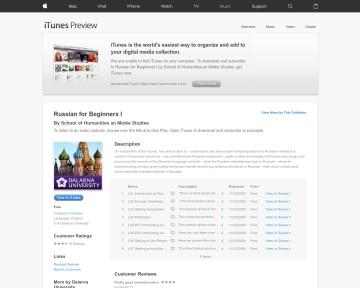 Russian for beginners - iTunes U