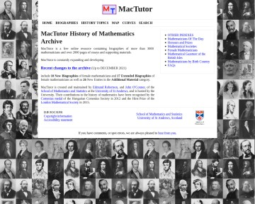 The MacTutor History of Mathematics archive