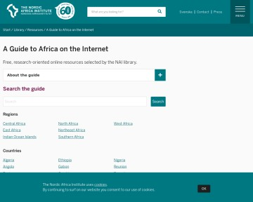 Nordiska Afrikainstitutet: A Guide to Africa on the Internet