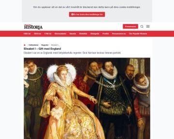 Elisabeth I, gift med England - Populär historia