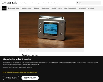 Digitalradio/DAB - Sveriges Radio
