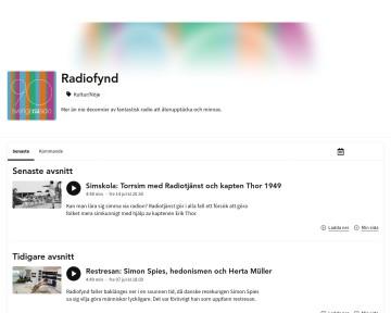 Radiofynd - Sveriges Radio