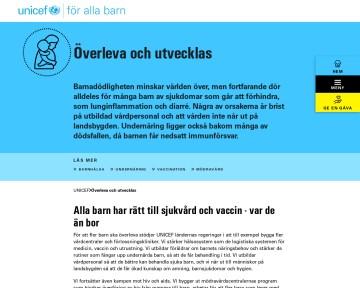 Barns överlevnad - UNICEF