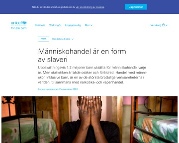 Handel med barn - Trafficking - UNICEF