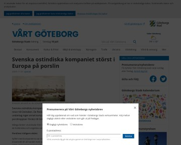 Ostindiska kompaniet - Vårt Göteborg