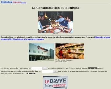 La Consommation et la cuisine