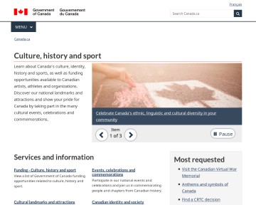 Canada - Culture, history and sport