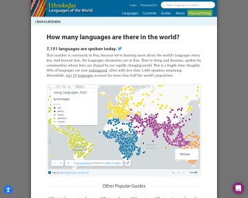 How many languages are there in the world? - Ethnologue.com
