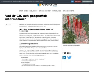 Vad är GIS?