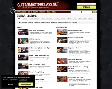 Video Lessons at Guitar Masterclass