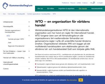 Vad är WTO?