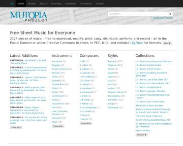 The Mutopia Projekt