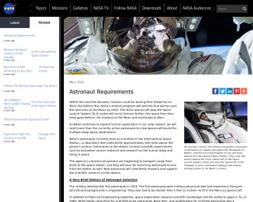 Astronaut requirements - NASA