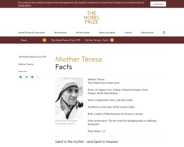 Mother Teresa - biography