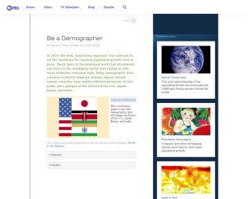 Be a Demographer