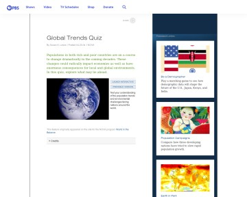 Global Trends Quiz - World in Balance
