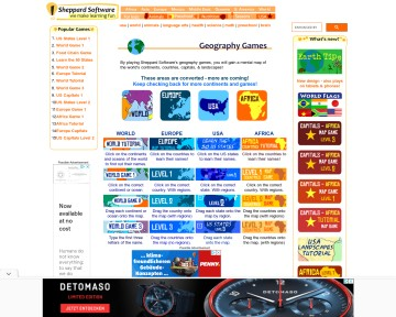 Geography games - Sheppard Software