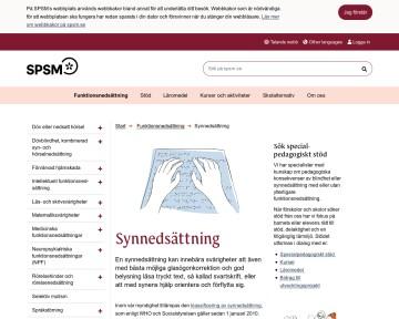Synnedsättning - Specialpedagogiska skolmyndigheten