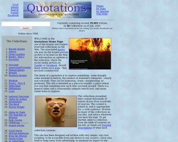 Quotations Home Page